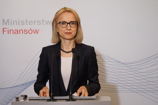 Minister finansów prof. T. Czerwińska przedstawia założenia ePIT na konferencji prasowej